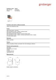 Text for tenders cantilever chair - Girsberger