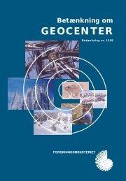 Betænkning om Geocenter 2000 - Geus
