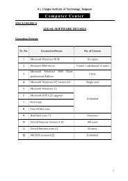 Staff List of Computer Center - Gogte Institute of Technology