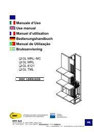 Manuale d'Uso Use manual Manuel d'utilisation ... - G.m.v.