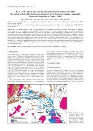 Rare earth element and yttrium characteristics of carbonates within ...