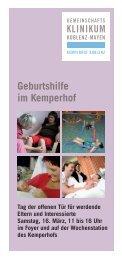 Flyer - Gemeinschaftsklinikum Koblenz-Mayen