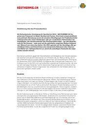 Stellungnahme zum Prozess Häring Erleichterung über den ...