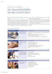 Das GesundheitsTelefon der BKK SCHOTT-ZEISS