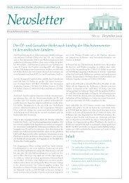 Ghorfa-Newsletter 12/2009