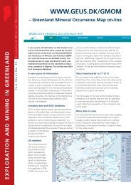 Exploration and Mining in Greenland, Fact sheet no. 10, 2005 - Geus