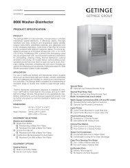 Getinge 8666 washer desinfector .pdf - Gemini BV