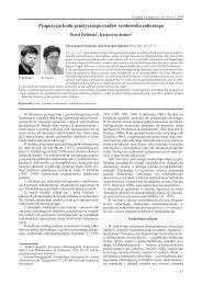 The proposal of genetic code of aeolian deposits - Uniwersytet im ...