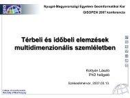 Multidimenzionális adatmodellen alapuló térbeli elemzések