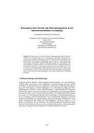 Konzeption eines Portals zum Datenmanagement in der ... - Die GIL