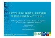 Sommes nous capables de prédire la phénologie du 22 siècle - CNRS