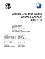 Colonel Gray High School - Department of Education and Early ...