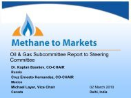 Oil and Gas - Global Methane Initiative