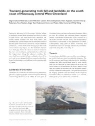 Review of Greenland Avtivities 2001 - Tsunami-generating ... - GEUS