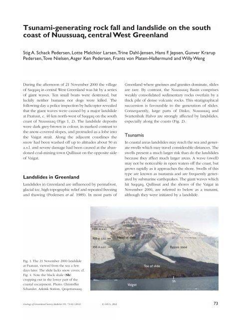 Review of Greenland Avtivities 2001 - Tsunami-generating ... - GEUS