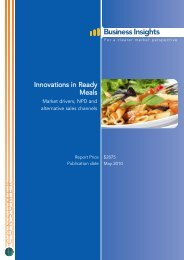 Innovations in Ready Meals - Business Insights