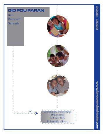 GID POU PARAN nan Broward Schools - Get Involved