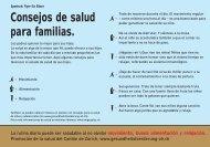 Consejos de salud para familias. - Institut für Sozial- und ...