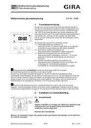 Elektronische jaloezie- en rolluikbesturing (5 drukcontacten) - Gira