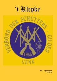 t Klepke nr. 2 oktober 1994 - Verbond der Schuttersgilden Genk