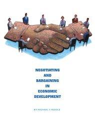 NEGOTIATING AND BARGAINING IN ECONOMIC DEVELOPMENT