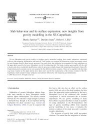 new insights from gravity modelling in the SE-Carpathians - geo.edu.ro