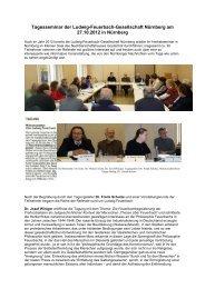 Download Rückblick Feuerbach-Seminar 2012 - Gesellschaft für ...