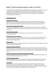 Bestemmingsplan begrippen, regels en toelichting - Gemeente Best
