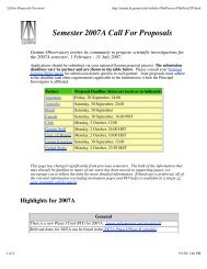 15 page printable pdf document - Gemini Observatory