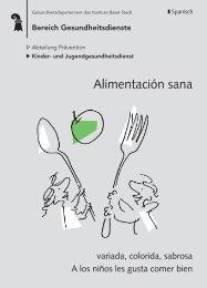 Alimentación sana - Kanton Basel-Stadt