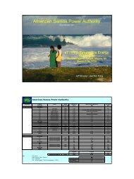 American Samoa Power Authority - Global Sustainable Electricity ...