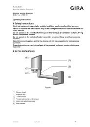 1 Safety instructions 2 Device components KNX/EIB - Gira