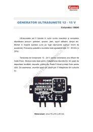 GENERATOR ULTRASUNETE 12 - 15 V - German Electronics