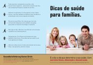 Dicas de saúde para famílias. - Institut für Sozial- und ...