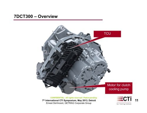 7DCT300 – Overview Key
