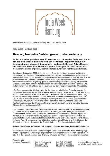 Hamburg baut seine Beziehungen mit Indien ... - Global Innovation