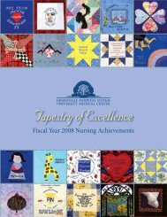 Tapestry of Excellence - Greenville Hospital System