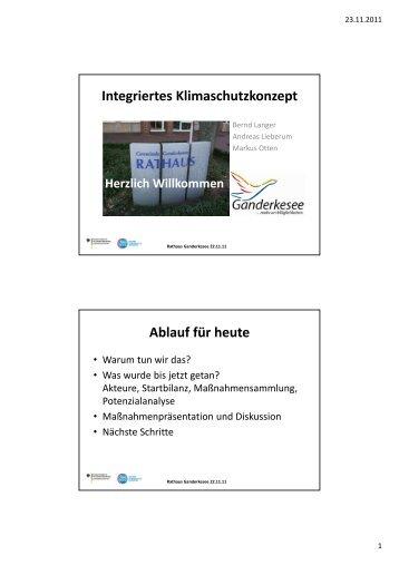 Präsentationsunterlagen - Gemeinde Ganderkesee