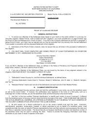 Proof of Claim and Release General Instructions - Gilardi & Co, LLC