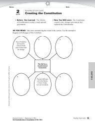 CH 8: Section 2 Reading Study Guide