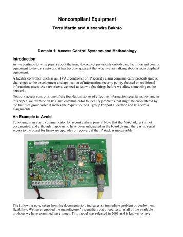 Noncompliant Equipment - GIAC