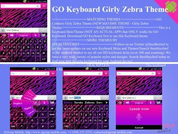 GO Keyboard Girly Zebra Theme - Get Mobile game