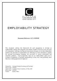 GCU employability strategy - Glasgow Caledonian University