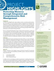 Protecting Morocco through Integrated and ... - GFDRR