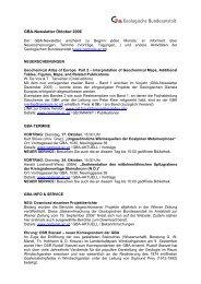 Newsletter 10/2006 - Geologische Bundesanstalt