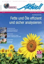 GERSTEL Aktuell Nr. 40 (pdf; 4,69 MB) - Gerstel GmbH & Co.KG