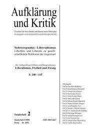 Liberalismus, Freiheit und Zwang - Gesellschaft für kritische ...