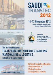 SAUDI TRANSTEC 2011 wAS SUPPORTED by - Ghorfa