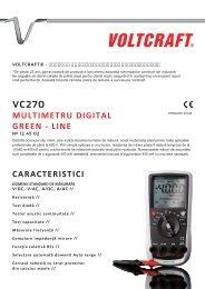 vc270 multimetru digital green - line caracteristici - German ...