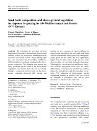 Seed bank composition and above-ground vegetation in response ...